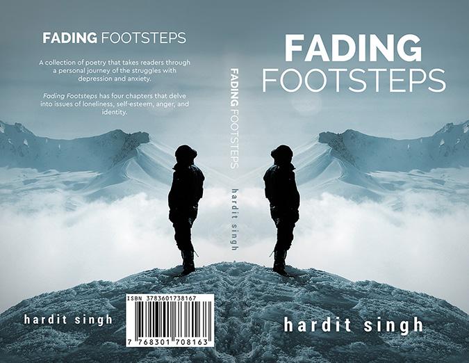 Fading Footsteps - Portada para CreateSpace Covers